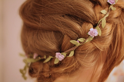 delicate small purple flower crown