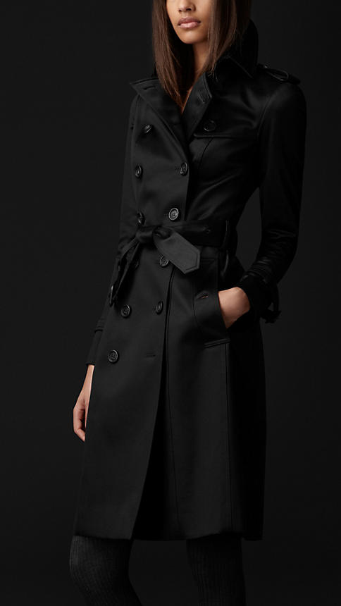 Cotton Sateen Trench