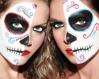 Half Faced Dia De Los Muertos