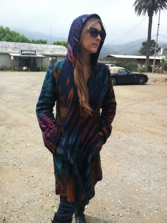 Jayli Cotton Mudmee Tie Dye Jacket