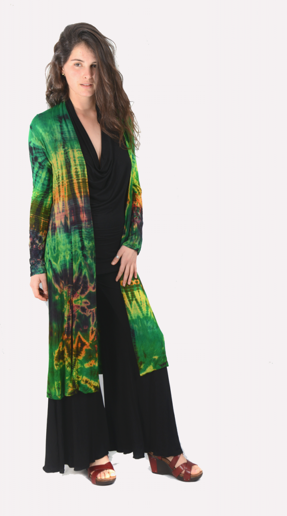 mudmee tie dye long jacket