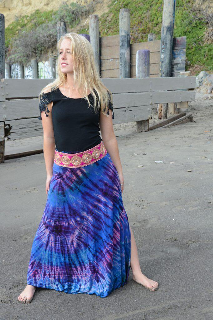 mudmee tie dye maxi skirt