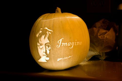 Imagine John Lennon Pumpkin