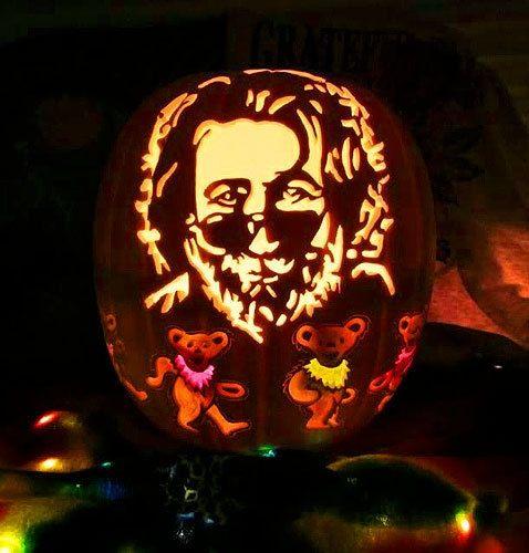 Jerry Garcia pumpkin