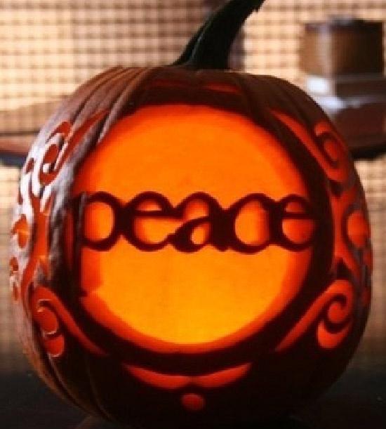 Peace pumpkin