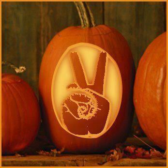 peace sign pumpkin