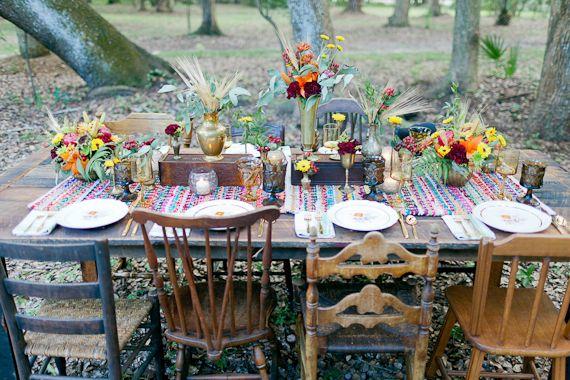 Bohemian Fall Table Setting 2