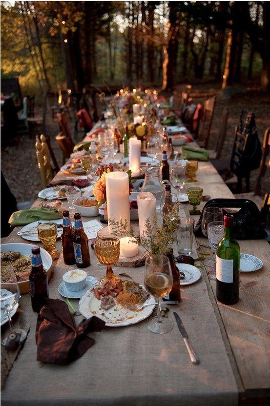 Bohemian Table Setting for fall