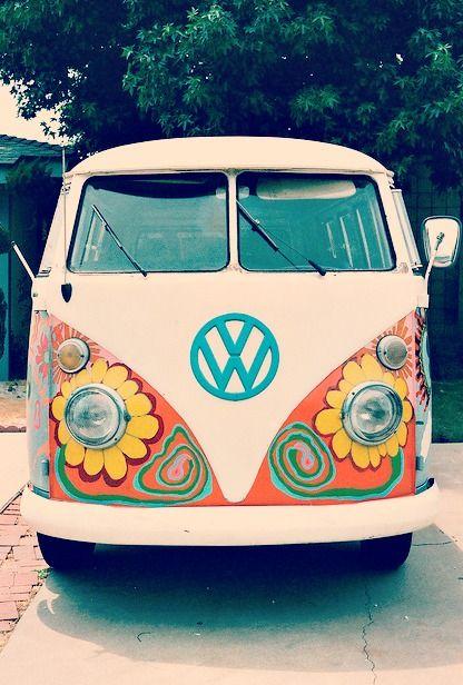 Flower Power VW Bus