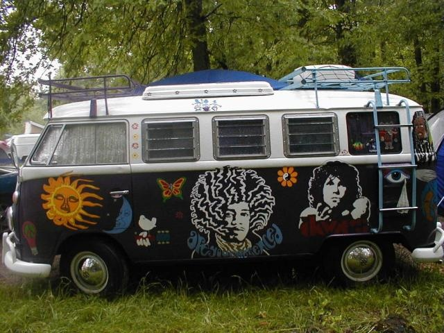 Jimi and Jim VW Bus