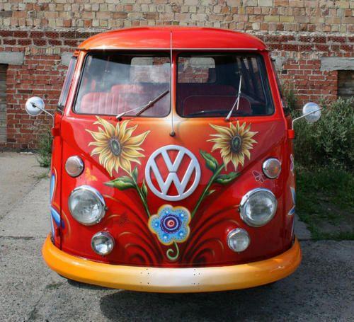 Sunflower bliss VW Bus