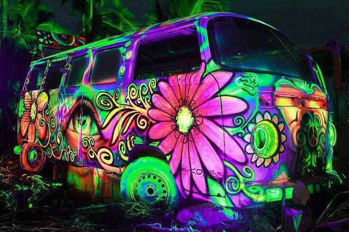 VW Bus Glow In The Dark Paint