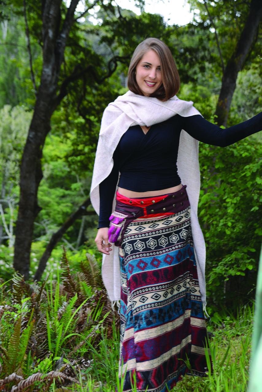 Jayli's Wool Blend Split Shawl