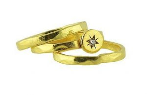 North Star Stackable Rings In Gold