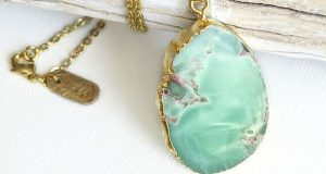 Lovely Lilypad Jade Necklace