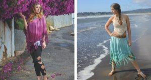 Hippie Skirt and Poncho - A Gorgeous Two In One Piece