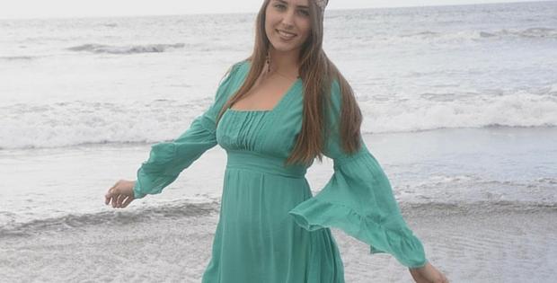A Jayli Vintage Style Hippie Dress