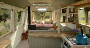 Converted Buses Into Tiny Homes
