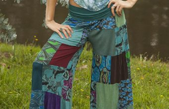 Patchwork Pants Of Viscose Delight