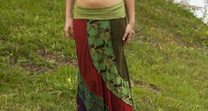 Charm In A Viscose Patchwork Skirt