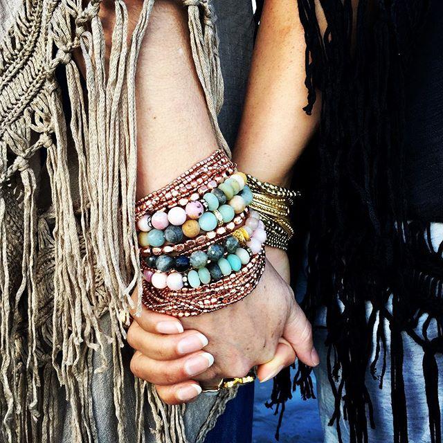 Mix And Match Gemstone Boho Bracelets