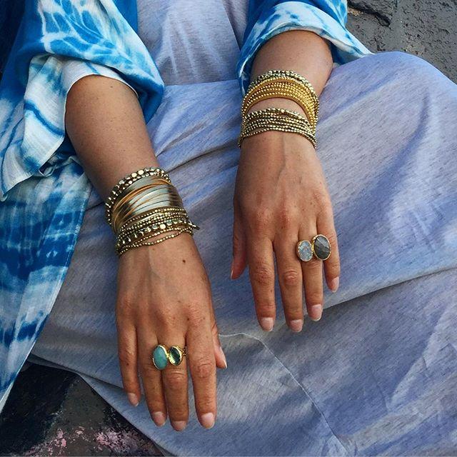 Shimmer and shine in Gold boho bracelets