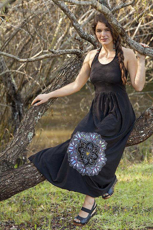lotus mandala maxi dress