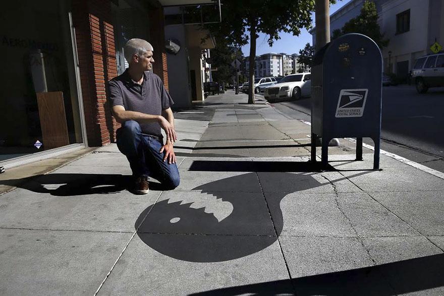 fake shadow art