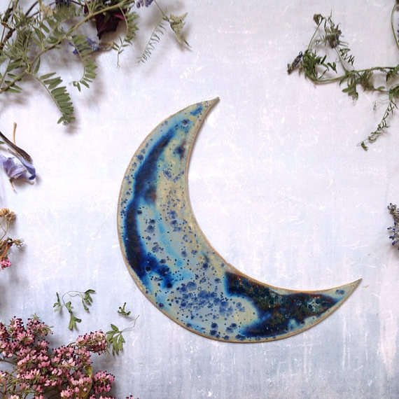 galaxy stoneware moon
