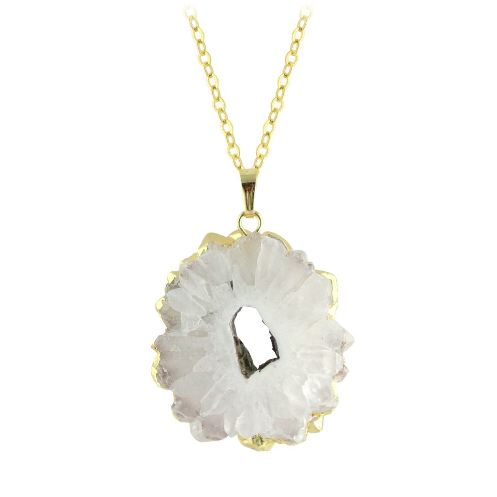 starburst quartz necklace