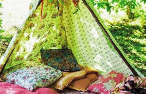 Bohemian Garden Tepees Perfect to Hang Out In