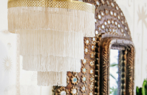 DIY Bohemian Fringe Chandelier Perfect for the Classic Hippie Chick