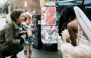 Little Girl meets her favorite Princess
